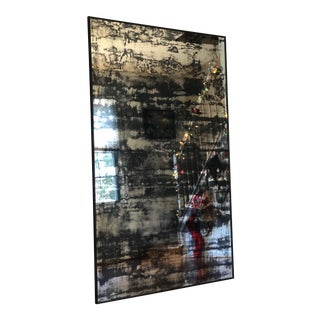 Industrial Style Antiqued Full Length Mirror For Sale