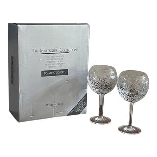 Waterford Crystal Millennium Toasting Goblets - Set of 4 For Sale