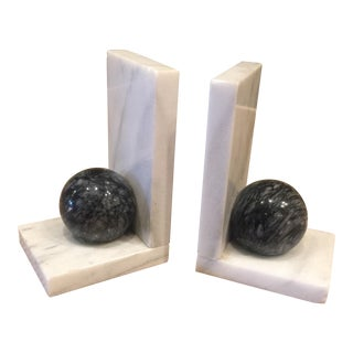 1960s Mid-Century Modern Marble Bookend - a Pair