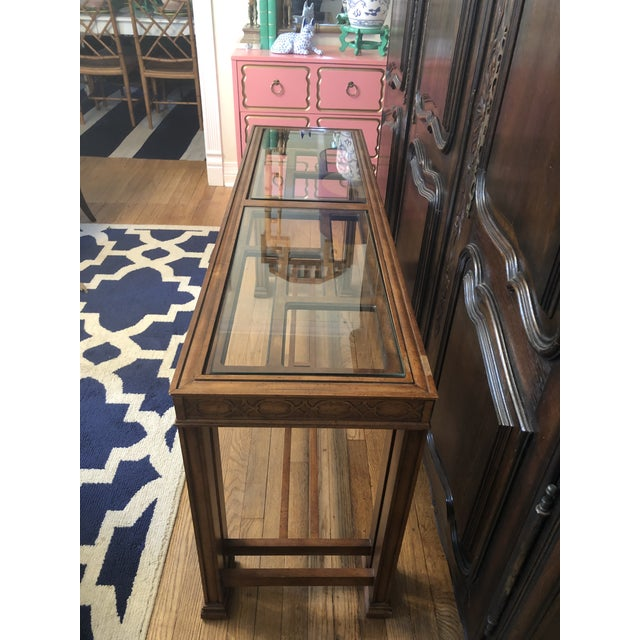 Chinoiserie Vintage Chinoiserie Henredon Console Table For Sale - Image 3 of 7