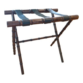 Mid 20th Century Faux Bamboo Luggage Rack For Sale