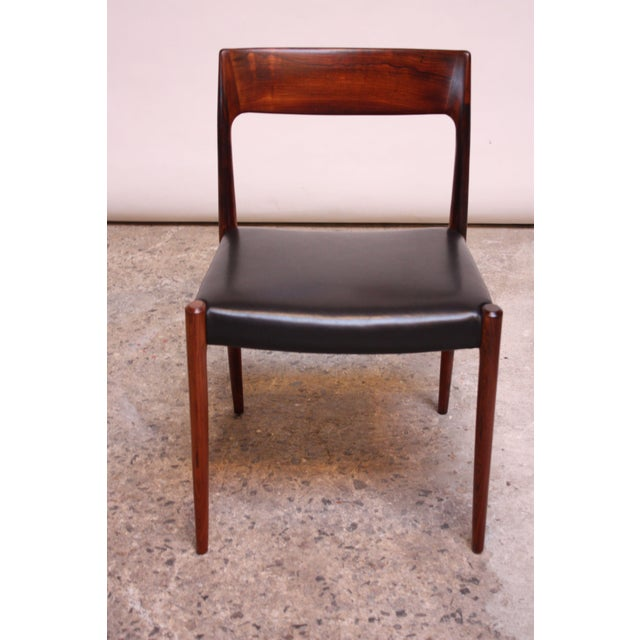 Set of Six Rosewood #77 Dining Chairs by Niels O. Møller - Image 5 of 11