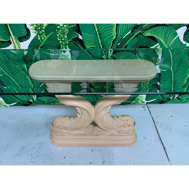 Asian Dolphin Fish Console Table For Sale - Image 4 of 7