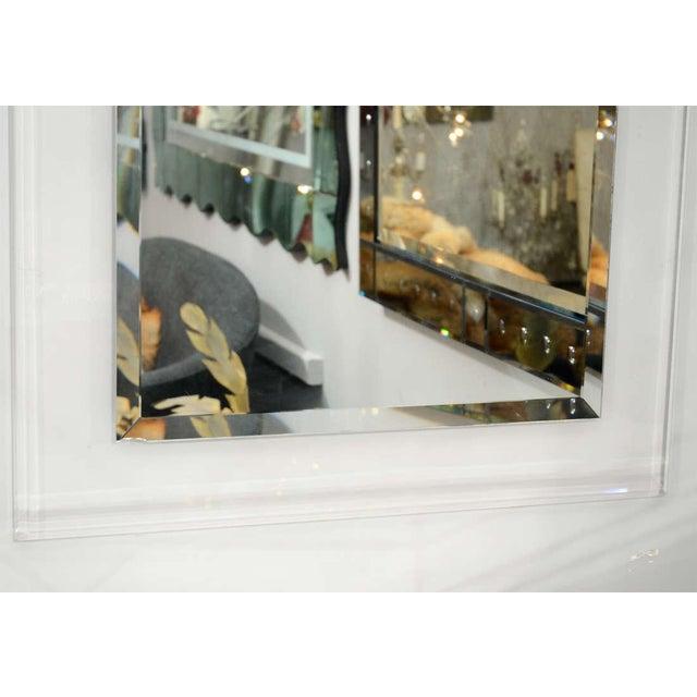 Venfield Custom Lucite Framed Mirror For Sale - Image 4 of 5