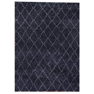 Weighton Charcoal Hand knotted Wool Area Rug - 9'x12' For Sale