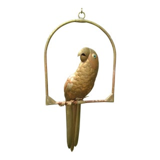 Sergio Bustamante Copper Parrot With Hanger