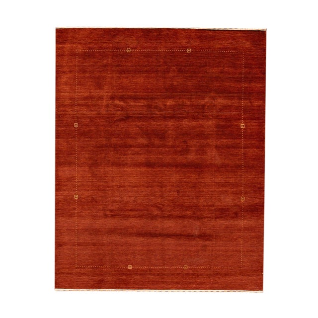 """Modern Indian Gabbeh Style Rug, 8'2"""" X 10'1"""" For Sale"""