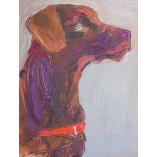 Expressionist Oil Painting, Dog Puppy For Sale
