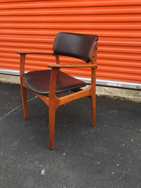 vintage erik buck o d mobler danish dining chair chairish