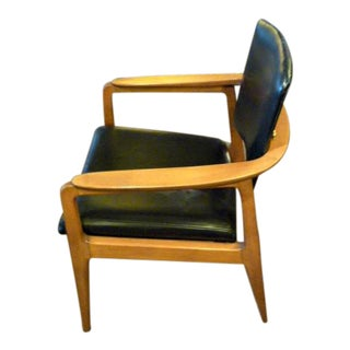 Sigvard Bernadotte for France & Daverkosen Danish Modern Teak Lounge Armchair For Sale