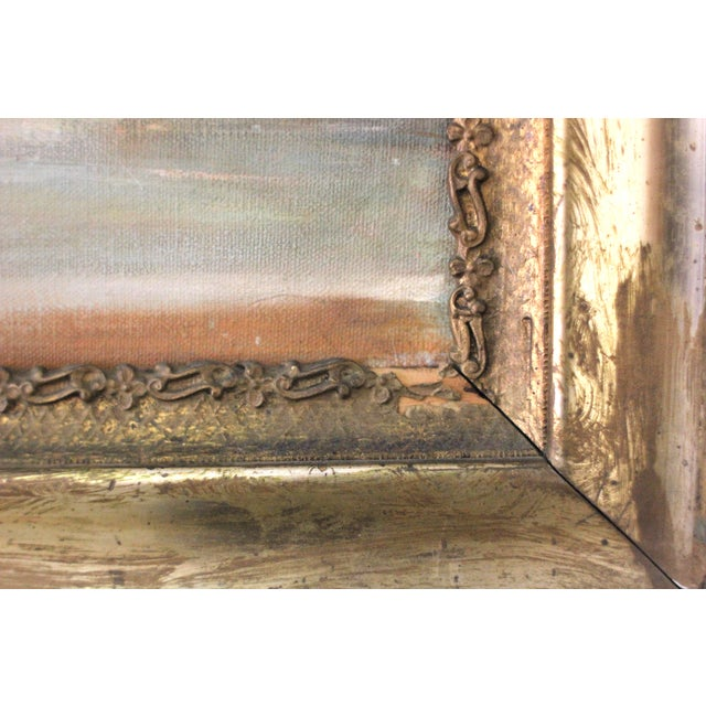 Mid-Century Iris Oil Painting by Jane Cramer - Image 7 of 8