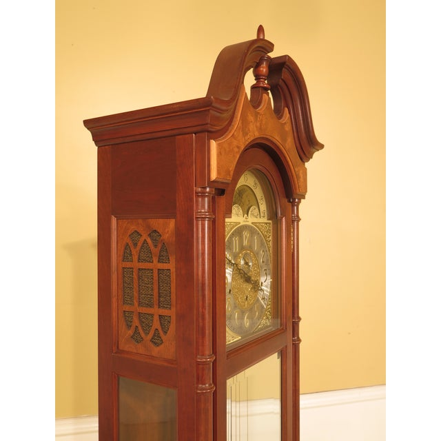 Traditional Seth Thomas Cherry Tall Case Grandfather Clock For Sale - Image 3 of 11