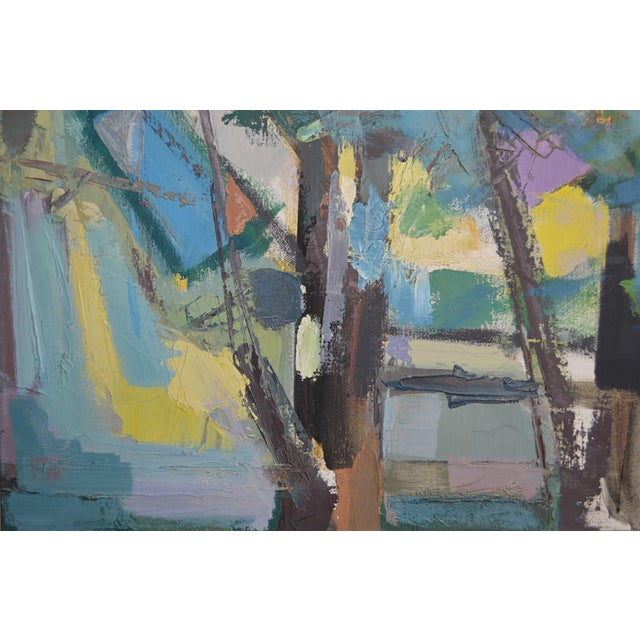 Mid 20th Century Abstract Expressionist Painting by Armando Del Cimmuto For Sale - Image 4 of 13