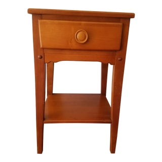 Mid Century Single Drawer Nightstand For Sale