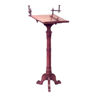 English Gothic Revival Wood Lectern For Sale