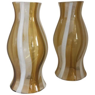 Vintage Italian 1960's Murano Glass Hurricane Shades - a Pair For Sale