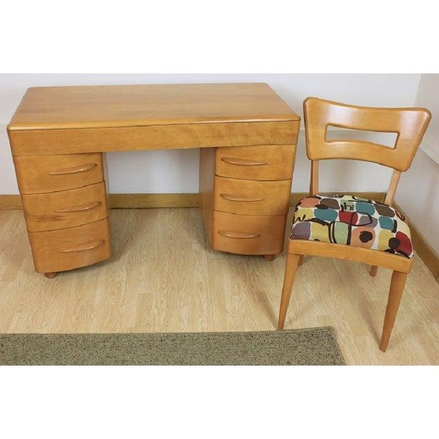 Heywood-Wakefield Kneehole Desk & Chair - Image 5 of 9