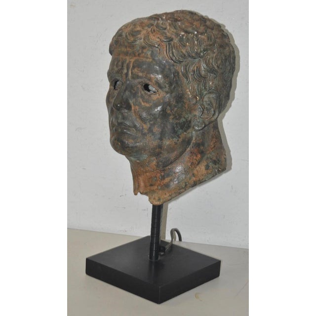 Fine 19th Century Bronze Head after Greek Antiquities This is a remarkable bronze head in the style of Greek antiquities....