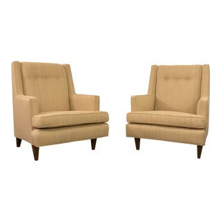 "Mid Century Modern Edward Wormley for Dunbar ""Mr."" Chairs- A Pair For Sale"