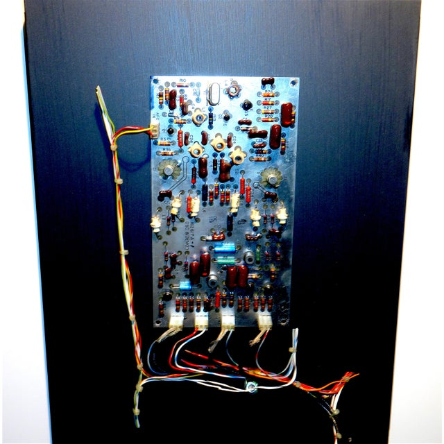 Mid 20th Century Mid Century Component Art Vintage Circuitry Wall Sculpture / Collage. Bill Reiter For Sale - Image 5 of 13