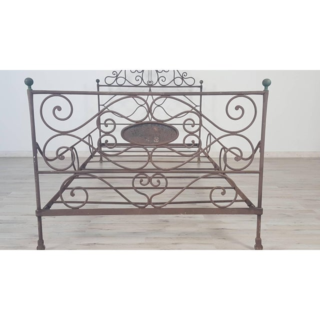 Early 19th Century 19th Century Empire Iron Single Bed For Sale - Image 5 of 13