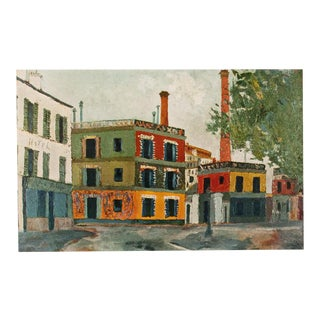 "1950s Maurice Utrillo, First Edition Lithograph ""Factories"" For Sale"