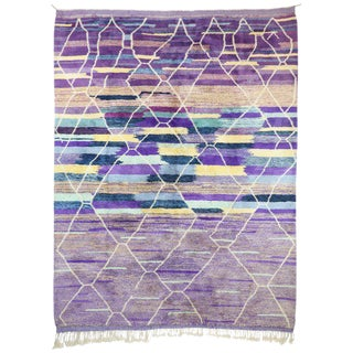 Contemporary Moroccan Berber Area Rug - 10′ × 12′7″ For Sale