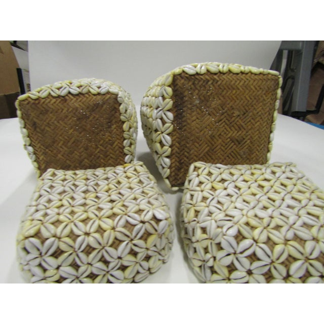 Shell Storage Baskets With Lids From Hawaii - A Pair For Sale In West Palm - Image 6 of 8
