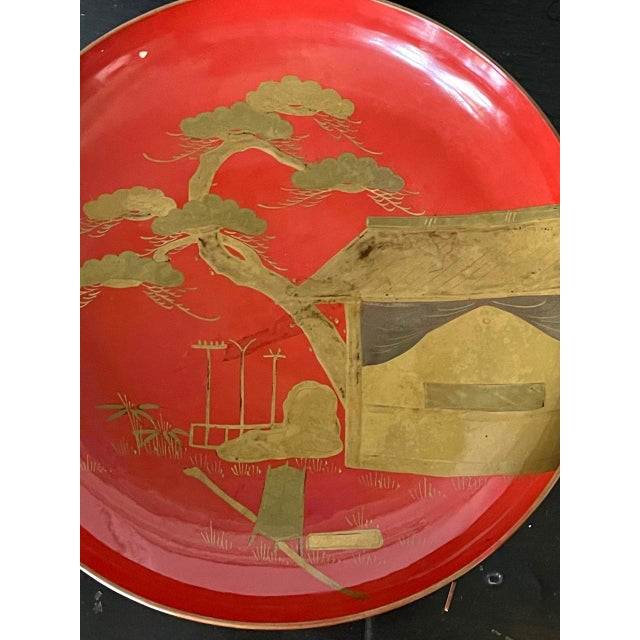 Japanese Maki-e Lacquered Pedestal Dishes - Set of 4 For Sale In Atlanta - Image 6 of 10