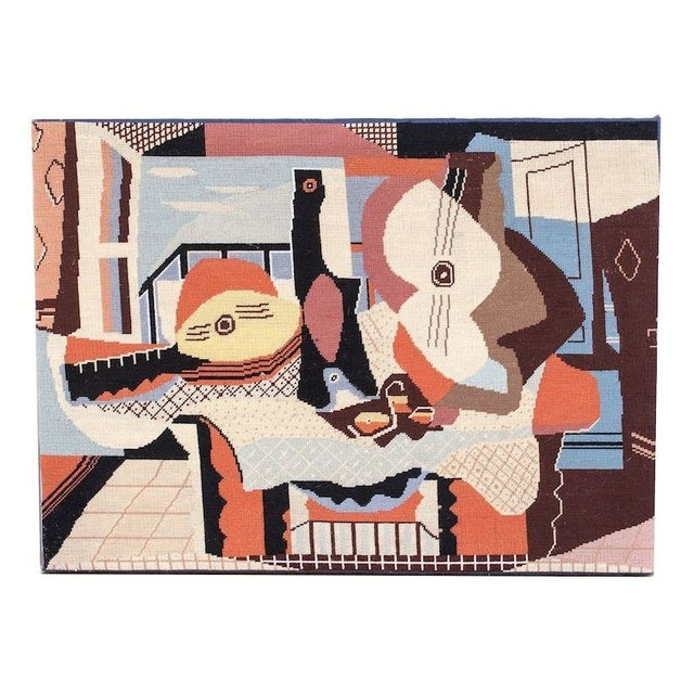 Needlepoint Art Picasso's 'Mandolin and Guitar' For Sale