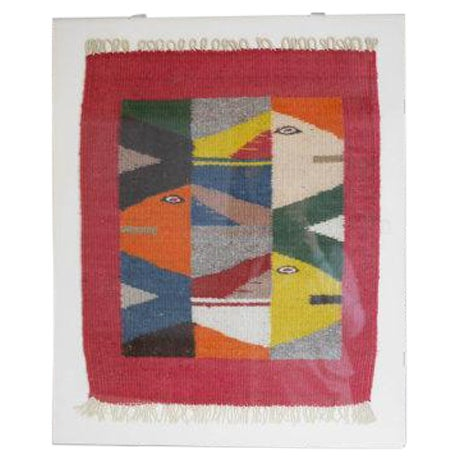 Vintage Oaxaca Fish Tapestry - Image 1 of 6