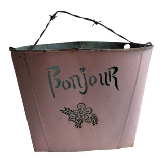 1930s Vintage French Pink Garden Planter For Sale