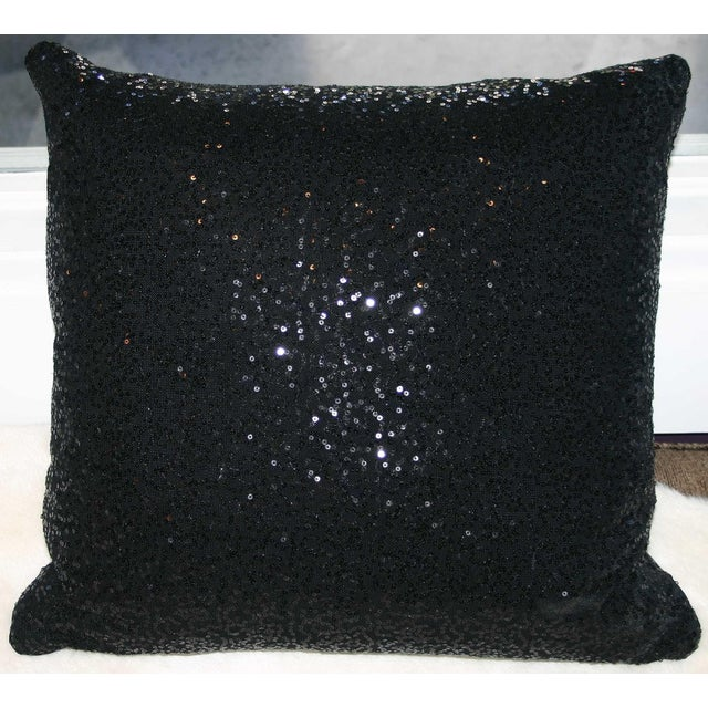 Black Sequin Pillow - Image 2 of 4