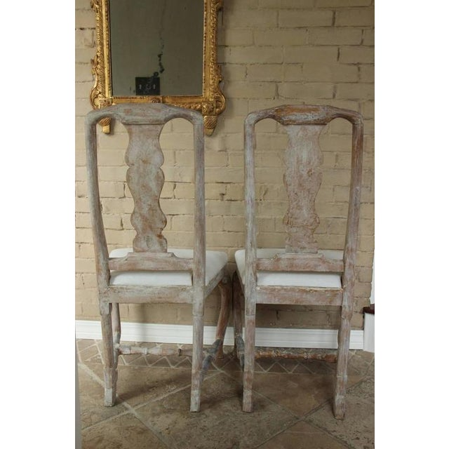 Pair of 18th Century Swedish Rococo Period Side Chairs For Sale - Image 9 of 11
