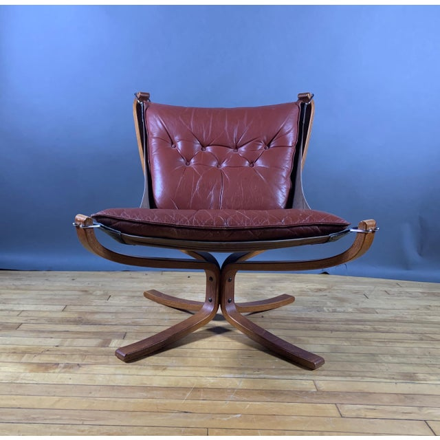 """1970s Sigurd Ressell Low Back """"Falcon"""" Chair, 1970s, Norway For Sale - Image 5 of 11"""