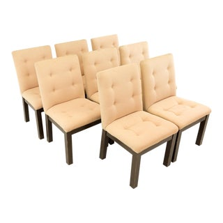 1970s Vintage Upholstered Dining Chairs- Set of 8 For Sale