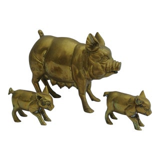Brass Pig and Piglets