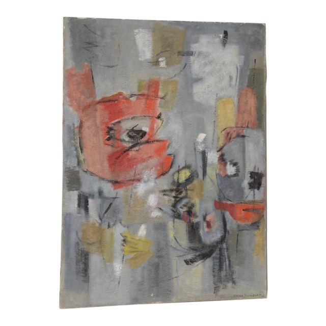 Mid Century Modern Abstract by Erika Baumgart c.1964 For Sale