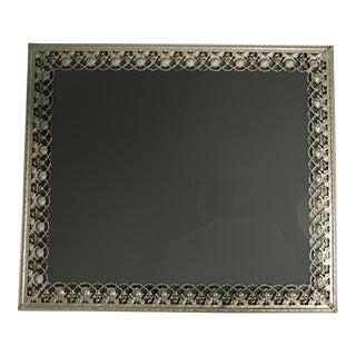 Vintage Silver Filigree Picture Frame For Sale