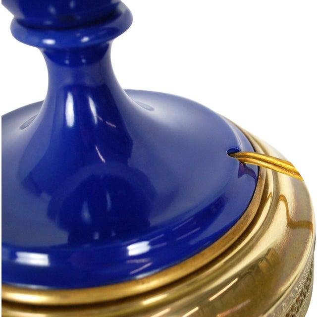 Cobalt Blue Sèvres-Style Lamp - Image 6 of 10