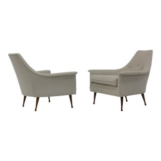 Pair of Lounge Chairs by Ben Seibel For Sale