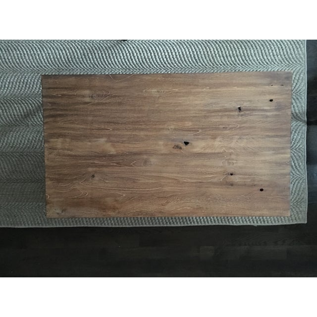 ABC Carpet & Home Wood and Steel Coffee Table - Image 8 of 8