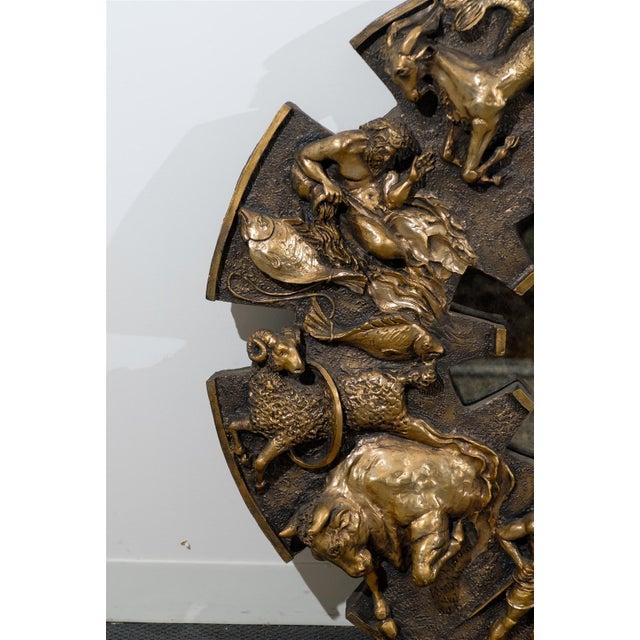 Dramatic Brutalist Zodiac Mirror For Sale In Atlanta - Image 6 of 8