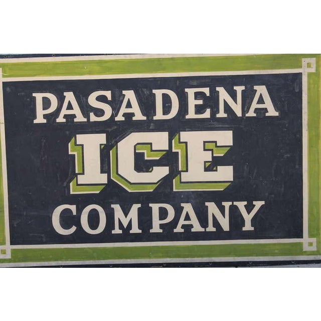 Early Pasadena Ice Company Trade Sign On Board From 1901 - Image 7 of 7