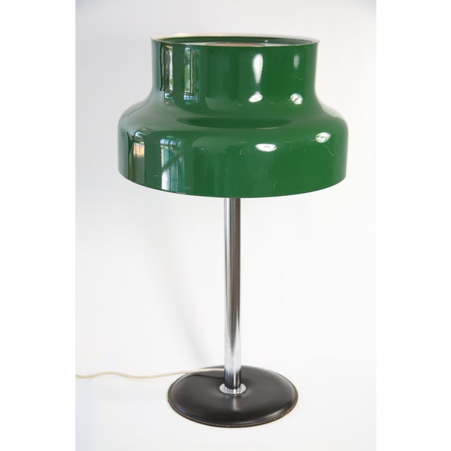 Mid-Century Modern 1960s Mid-Century Modern Swedish Green 'Bumling' Table Lamp For Sale - Image 3 of 3