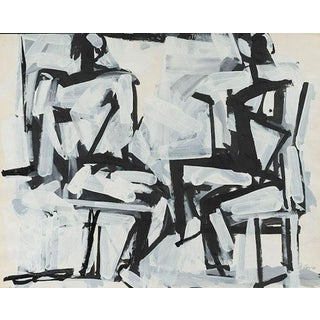 """""""Two Sitting Figures"""" Painting by Michael Loew, 1984 For Sale"""