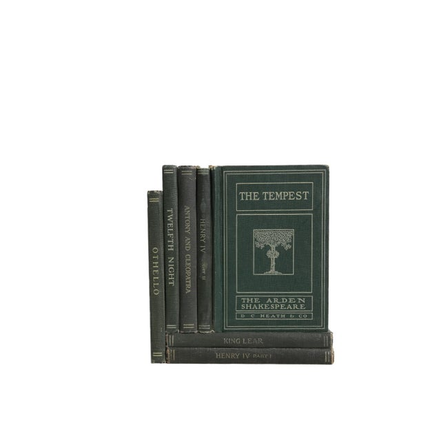 English Traditional Vintage Decorative Book Gift Set: Shakespeare Greens For Sale - Image 3 of 5
