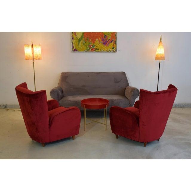 Italian Mid-Century Modern Velvet Sofa by Gigi Radice for Minotti, 1950s For Sale - Image 6 of 13