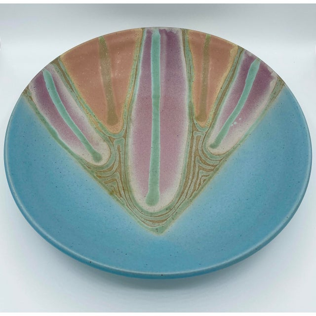 Late 20th Century Vintage Signed Studio Pottery Platter For Sale - Image 5 of 6