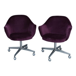 Saarinen for Knoll Executive Swivel Chairs - a Pair For Sale